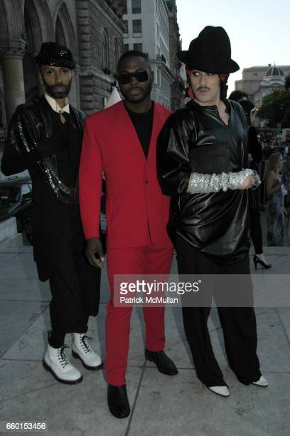 Paul Alexander Nashom and Joe Joe Americo attend Official Opening Ceremony of LIFE BALL 2009 Backstage at on May 16 2009 in Vienna Austria
