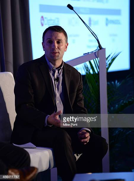 Paul Alfieri speaks onstage at the Beyond the Banner Ad Creative and Data Sparking a Marketing Revolution panel during AWXI on September 30 2014 in...