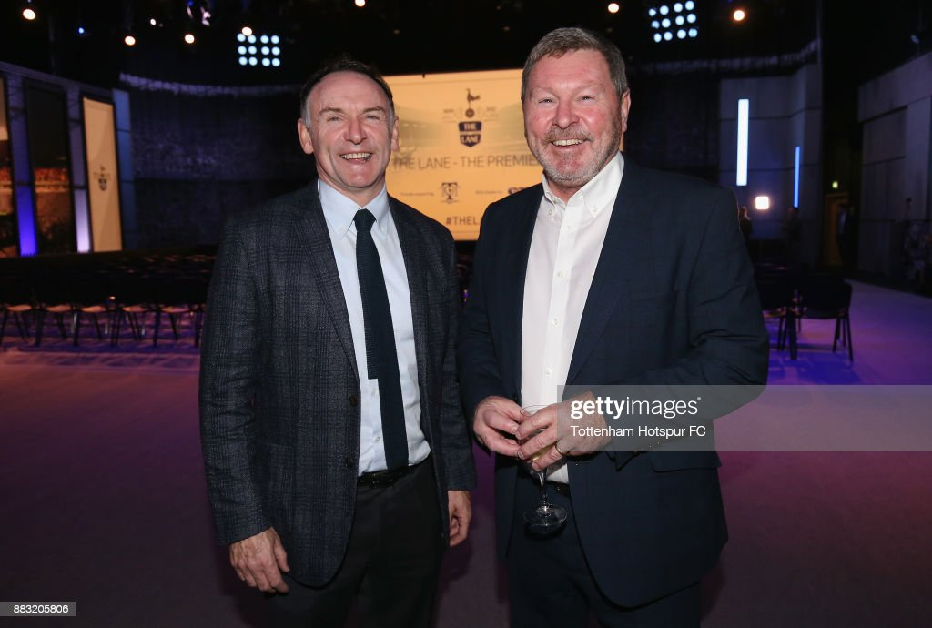 Paul Allen and Clive Allen during the premiere of 'The Lane' documentary film at BT Sport Studios on November 30, 2017 in Stratford, England.