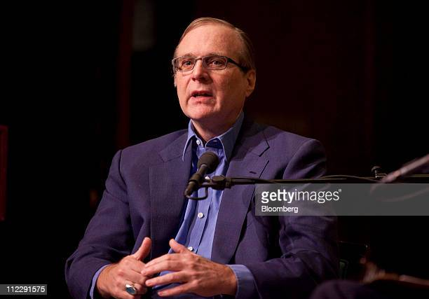 """Paul Allen, co-founder of Microsoft Corp., speaks during a Bloomberg BusinessWeek """"Captains of Industry"""" event at the 92nd Street Y in New York,..."""