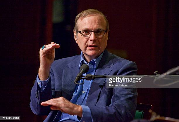 """Paul Allen, Co-Founder of Microsoft Inc., speaks during an event at the 92nd Street Y in New York, on Sunday, April 17, 2011. Allen's memoir """"Idea..."""