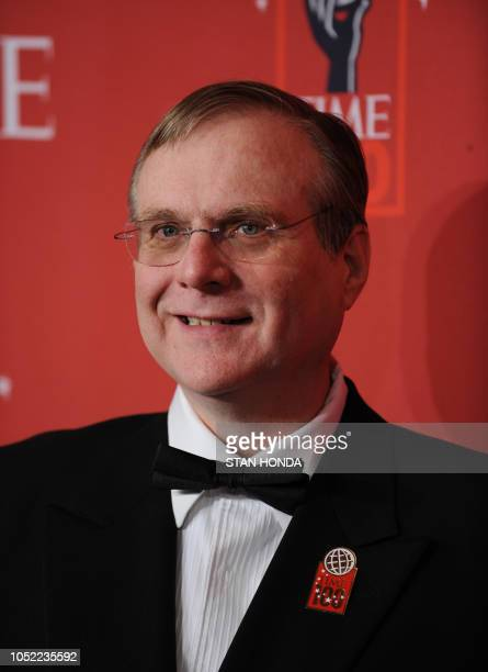 Paul Allen Microsoft cofounder arrives at Time Magazine's 100 Most Influential People in the World dinner on May 8 2008 in New York AFP PHOTO/Stan...