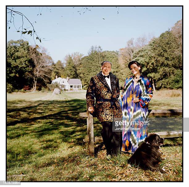 Paul and Chauncie Rodzianko are photographed for Town & Country Magazine on September 8, 2011 in front of their home, which once was George F....