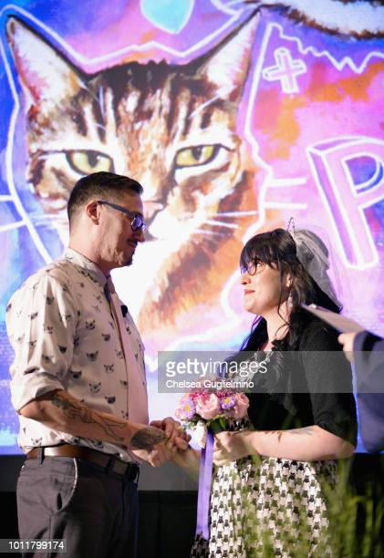 Paul and Colleen get married at CatCon Worldwide 2018 at Pasadena Convention Center on August 5 2018 in Pasadena California