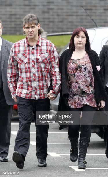 Paul and Coral Jones parents April Jones arrive at Mold Crown Court for the the trial of Mark Bridger accused of the murder of April 5 from Macynllth...