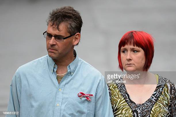 Paul and Coral Jones the parents of April Jones arrive at Mold Magistrates Court on May 30 2013 in Mold WalesThe jury will continue deliberations in...