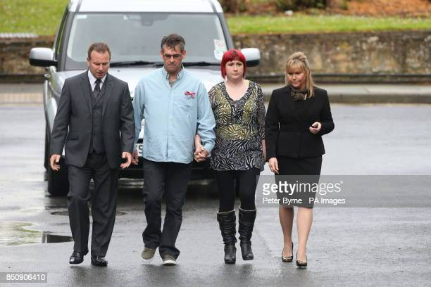 Paul and Coral Jones the parents of April Jones arrive at Mold Crown Court as the jury continues considering its verdicts today against Mark Bridger...