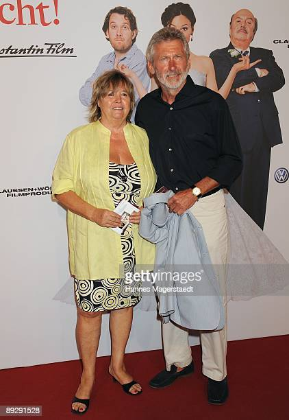 Paul and Hildegard Breitner attend the world premiere of Maria Ihm Schmeckt's Nicht on July 27 2009 in Munich Germany