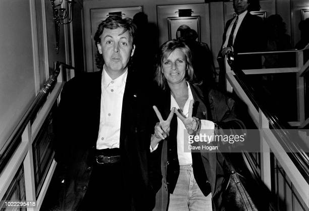 Paul And Linda McCartney at the Grosvenor House Hotel in London on 8th July 1989