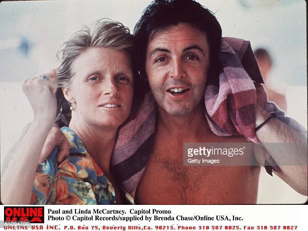 Paul And Linda Mccartney Linda Eastman Died Of Cancer Friday 4/17/98 Age 56 Capitol Promo