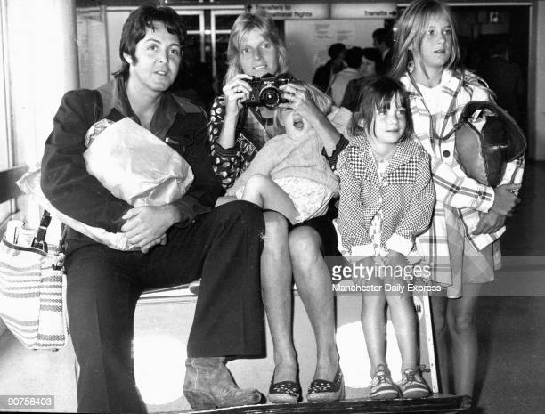 Paul and Linda McCartney with their children James Mary and Stella