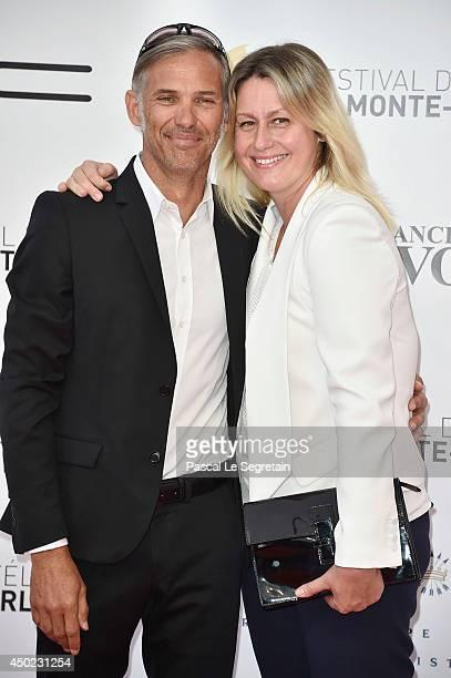 Paul and Luana Belmondo arrive at the opening ceremony of the 54th Monte-Carlo Television Festival on June 7, 2014 in Monte-Carlo, Monaco.