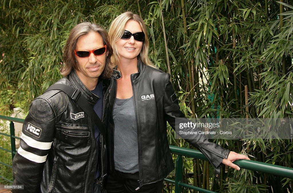 Paul and Luana Belmondo at the Roland Garros Village.