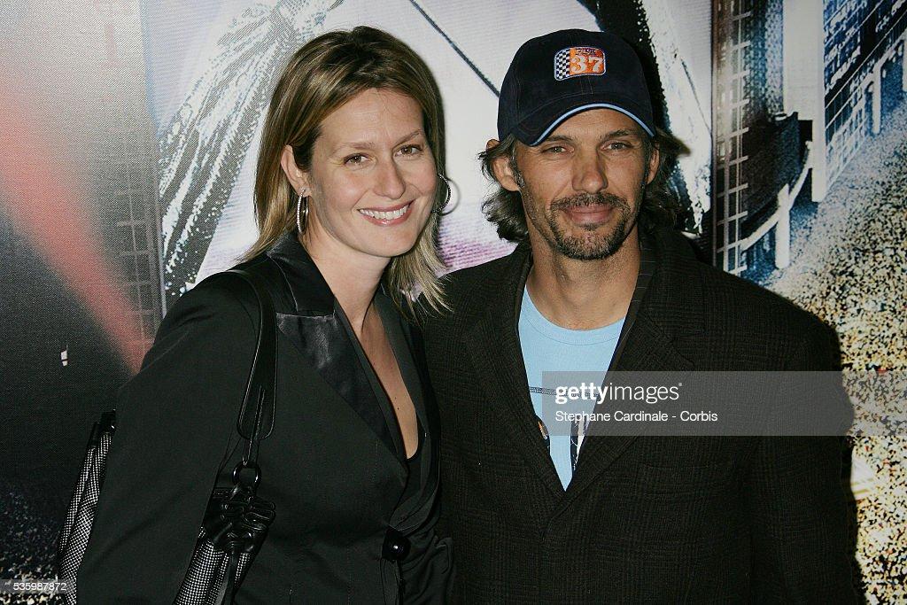 Paul and Luana Belmondo attend the premiere of 'Jean-Philippe' in Paris.