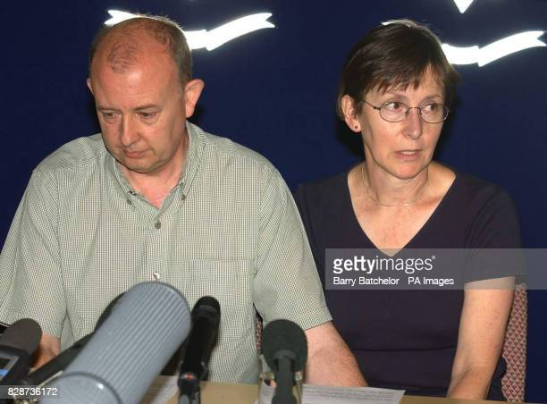 Paul and Mary Hilder parents of dead skydiver Stephen Hilder at Hereford Racecourse They were speaking at a press conference organised exactly a week...