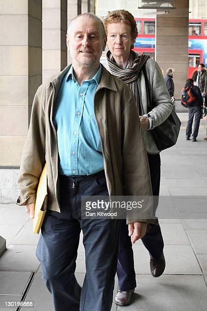 Paul and Rachel Chandler arrive at Portcullis House to give evidence to The the Foreign Affairs Select Committee on October 24 2011 in London England...