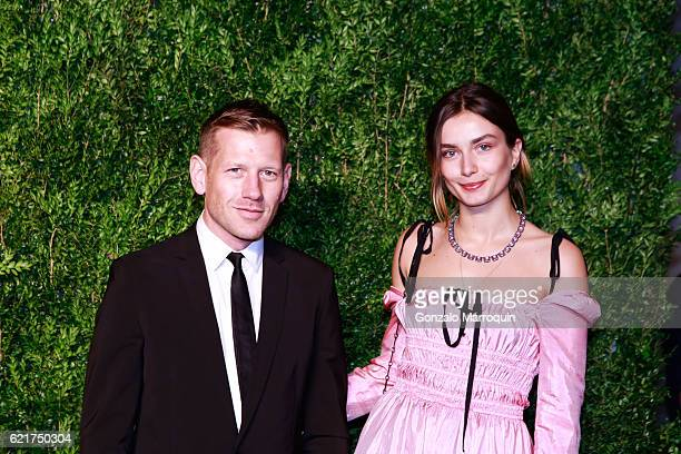 Paul Andrew Andreea Diaconu at the 2016 CFDA/Vogue Fashion Fund Awards at Spring Studios on November 7 2016 in New York City