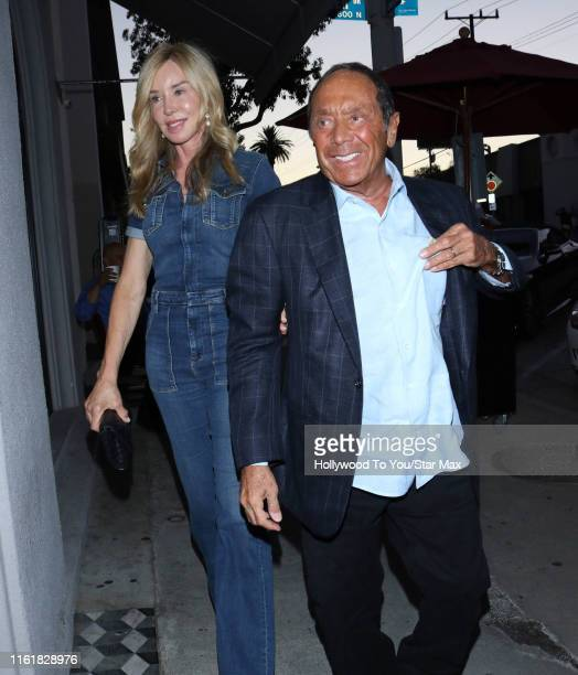 Paul Anka and Lisa Pemberton are seen on August 14, 2019 at Los Angeles.