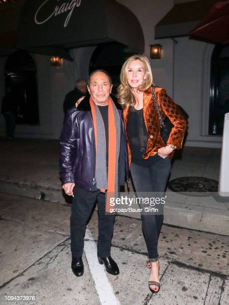 Paul Anka and Lisa Pemberton are seen on February 05, 2019 in Los Angeles, California.