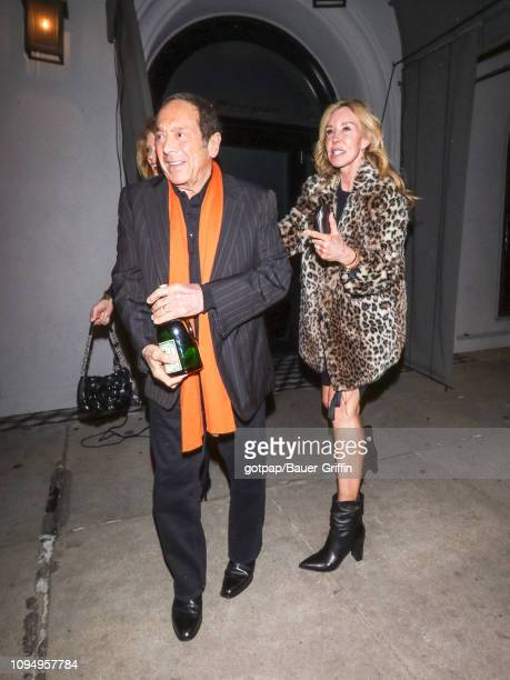 Paul Anka and Lisa Pemberton are seen on February 06 2019 in Los Angeles California