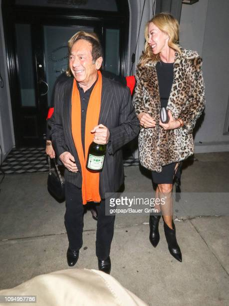 Paul Anka and Lisa Pemberton are seen on February 06, 2019 in Los Angeles, California.
