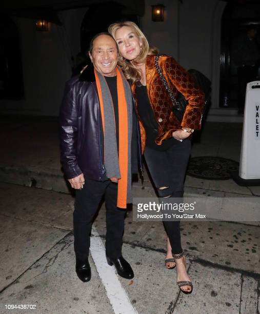 Paul Anka and Lisa Pemberton are seen on February 5 2019 in Los Angeles CA