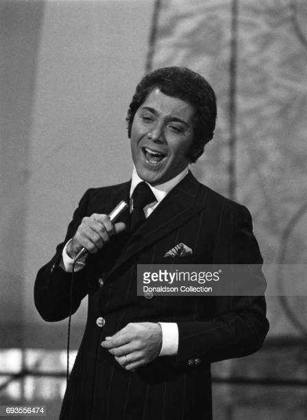 Paul Anka performs as a part of Ace Trucking Company on This Is Tom Jones TV show in circa 1970 in Los Angeles California