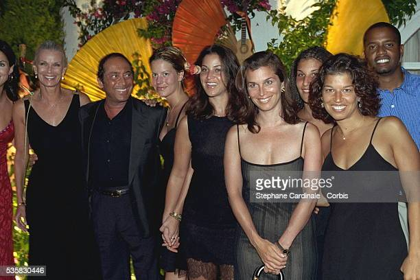 Paul Anka with his wife Anne and daughters Alicia, Alexandra, Amanda, Anthea and Amelia.