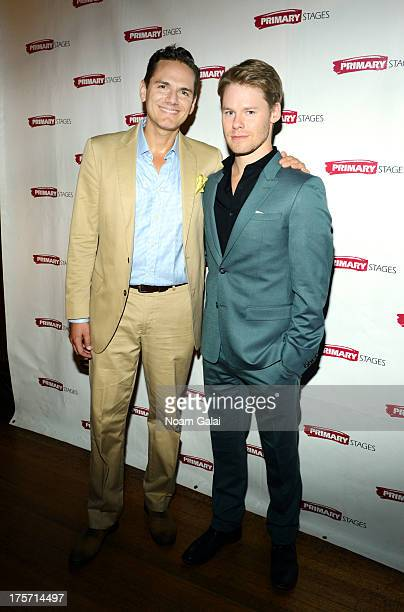 Paul Anthony Stewart and Randy Harrison attend the 'Harbor' opening night at 59E59 Theaters on August 6 2013 in New York City
