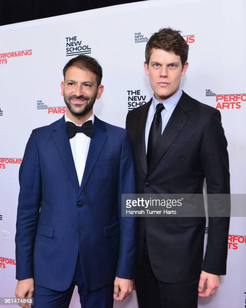 Paul Arnhold and Wes Gordon attend the 70th Annual Parsons Benefit at Pier Sixty at Chelsea Piers on May 21 2018 in New York City