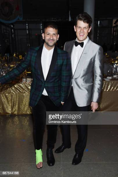 Paul Arnhold and Wes Gordon attend the Whitney Museum's annual Spring Gala and Studio Party 2017 sponsored by Audi and Michael Kors on May 23 2017 in...