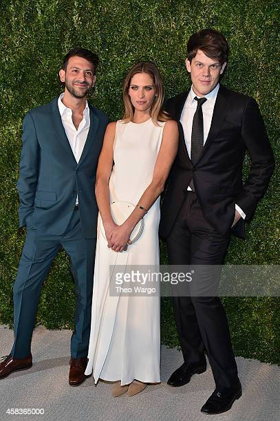 Paul Arnhold model Frankie Rayder and designer Wes Gordon attend the 11th annual CFDA/Vogue Fashion Fund Awards at Spring Studios on November 3 2014...