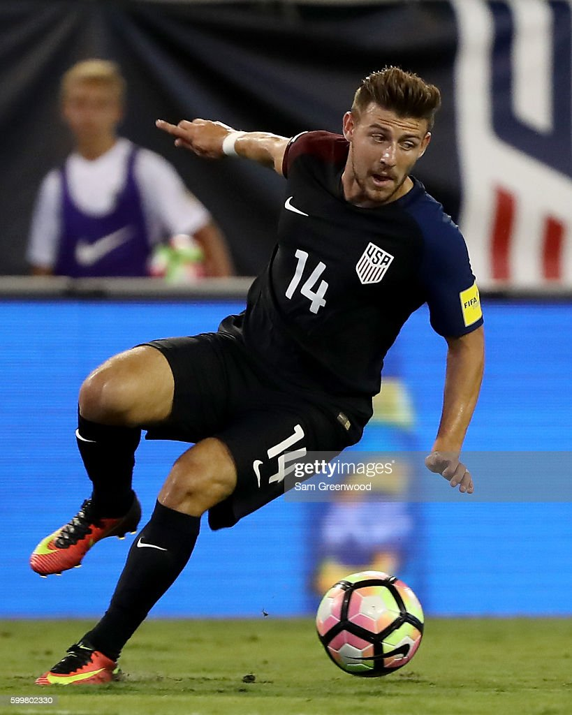 Paul Arriola #14 of te United States in action during the FIFA 2018 World Cup Qualifier against Trinidad & Tobago at EverBank Field on September 6, 2016 in Jacksonville, Florida.