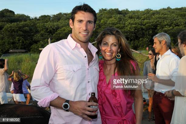 Paul Arrouet and Dylan Lauren attend Celebrating Dylan Lauren as new contributing editor to Self Magazine on July 17 2010 in Montauk NY