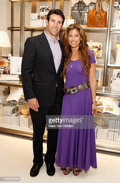 Paul Arrouet and Dylan Lauren attend the Ralph Lauren celebration for the publication of The Hamptons Food Family and History by Ricky Lauren at the...