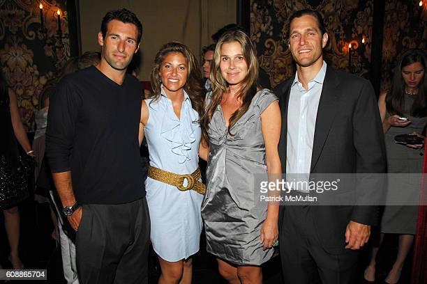 Paul Arrouet Dylan Lauren Aerin Lauder Zinterhofer and Eric Zinterhofer attend Men's Vogue Dinner in Honor of Roger Federer at Wakiya on August 23...
