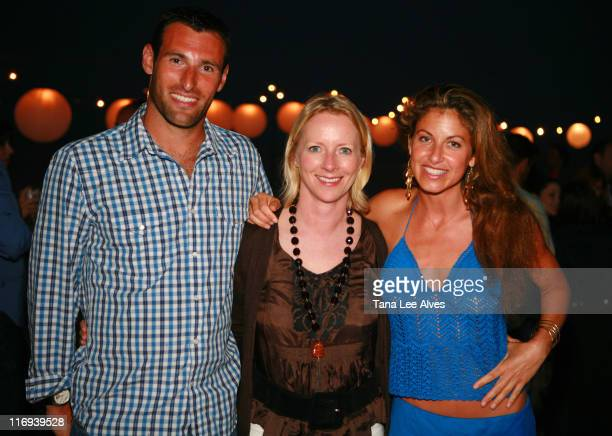 Paul Arrouet Linda Wells and Dylan Lauren during Allure's Linda Wells Hosts Her Annual Clambake at Fowler Beach in Southampton at Fowler Beach in...