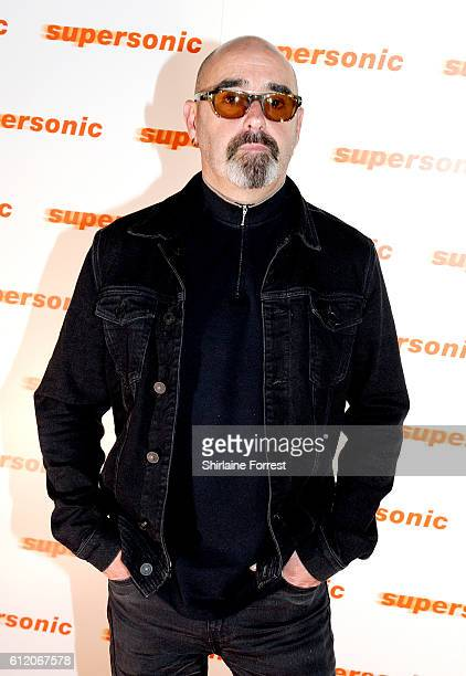 """Paul Arthurs, aka Bonehead, arrives for the special screening of Oasis documentary """"Supersonic"""" at Odeon, The Printworks on October 2, 2016 in..."""