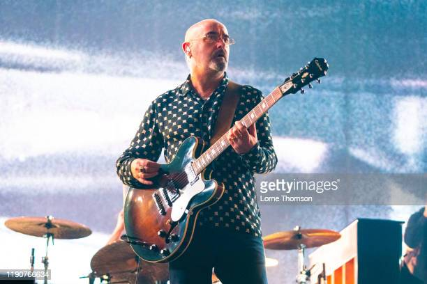 Paul Arthurs AKA Bonehead performs with Liam Gallagher at The O2 Arena on November 28, 2019 in London, England.