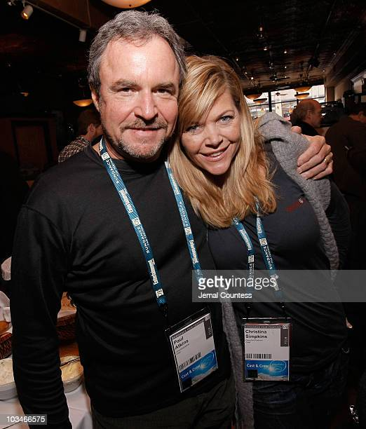Paul Atkins and Christina Simpkins attends the New York Times Brunch during the 2008 Sundance Film Festival on January 24 2008 in Park City Utah