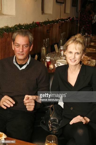 Paul Auster and Siri Hustvedt attend PEN Edmont Holiday Benefit at The Half King on December 13 2009 in New York City