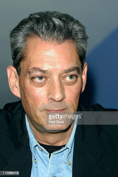Paul Auster read at the Institute of Education in the literacy district Bloomsbury in London