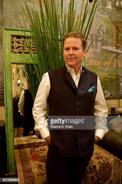 Paul Austin Austin Advisory Group New York at master couturier Rohit Bal's first home collectibles and apparel line called HusnETaairaat at Good...