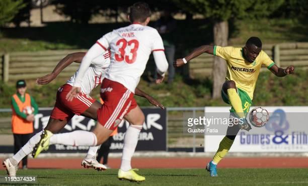 Paul Ayongo of CD Mafra in action during the Liga Pro match between CD Mafra and UD Vilafranquense at Estadio do Parque Desportivo Municipal de Mafra...