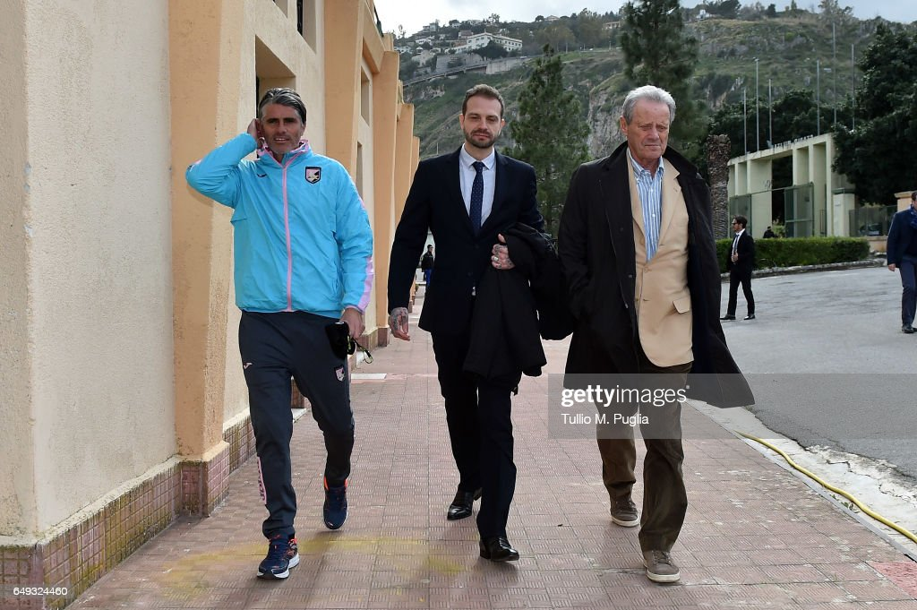 US Citta di Palermo New President Paul Baccaglini Visits Club's Training Center : Foto di attualità