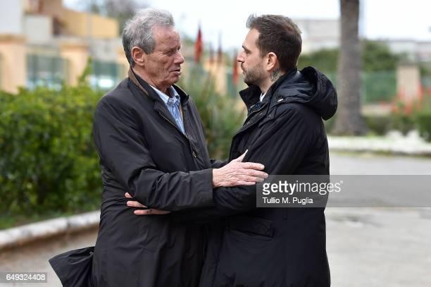 Paul Baccaglini , new President of Palermo, and former President Maurizio Zamparini visit Tenente Onorato training center on March 7, 2017 in...