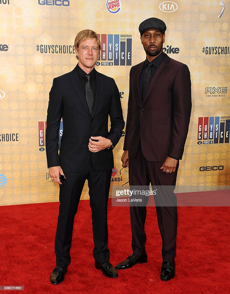 Paul Banks and RZA of Banks & Steelz attend Spike TV's Guys Choice 2016 at Sony Pictures Studios on June 4, 2016 in Culver City, California.