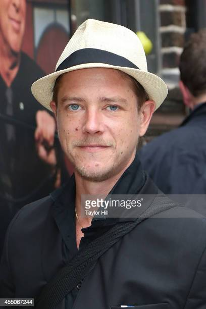 Paul Banks of Interpol arrives at 'Late Show with David Letterman' at Ed Sullivan Theater on September 9 2014 in New York City