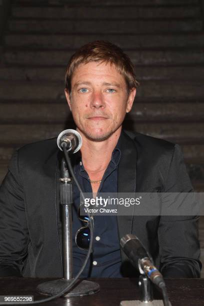 Paul Banks of Interpol attends a press conference to promote the release of their new album 'Marauder' at General Prim on June 7 2018 in Mexico City...