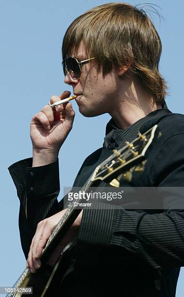 Paul Banks of Interpol during Live 105's 'Big Friggin Deal' Concert 2003 at Shoreline Amphitheatre in Mountain View California United States